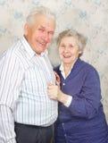 Rire aîné heureux de couples Photographie stock