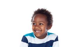 Rire africain d'enfant image stock