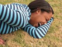 Rire africain de femme Photos stock
