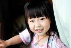 rire asiatique d'enfant Images libres de droits