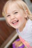 Rire d'enfant en bas âge Photographie stock