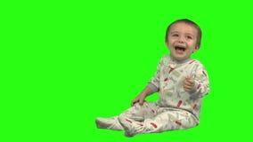 Rire d'enfant en bas âge banque de vidéos