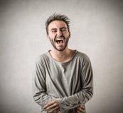 Rire d'homme Photographie stock libre de droits