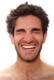 Rire d'homme Photos libres de droits