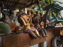 Rire d'insulaires de poupée de fille Images libres de droits