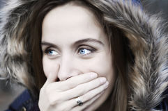 Rire de Blueyes Photos libres de droits
