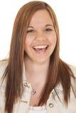 Rire de femme heureux Photos libres de droits