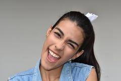 Rire de l'adolescence de femelle photos libres de droits