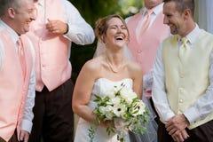 Rire de mariée Photographie stock