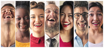 Rire de personnes Images libres de droits