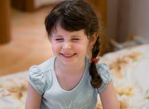 Rire de petite fille photo stock