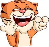 Rire de tigre de bande dessinée Images stock
