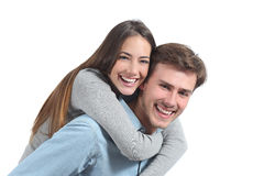 Rire drôle de couples d'isolement Photos libres de droits