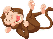 Rire drôle de singe de bande dessinée Photos libres de droits