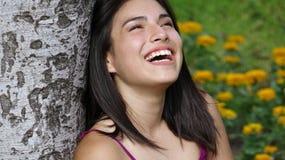 Rire et excitation photographie stock libre de droits