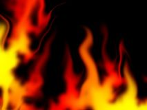 Fire flames. Abstract illustration of hot flames Stock Photo