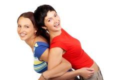 Rire heureux de copains Photos libres de droits