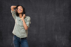 Rire heureux de femme Photos libres de droits