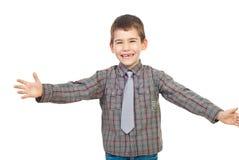 Rire préscolaire d'enfant Photographie stock libre de droits