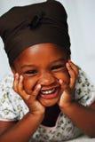 Rires bébêtes Image stock