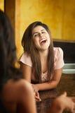 Rires de jeune femme Image libre de droits