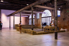 Rirkrit Tiravanija installation, Arsenale. 56th Venice biennale Royalty Free Stock Image