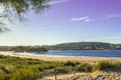 Ris beach in Noja, Cantabria Stock Photos