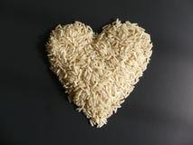 Ris formad vit hjärta Arkivfoto