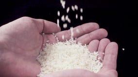 Ris hälls in i händer lager videofilmer