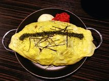 Ris i äggen Omu, japansk mat, Japan Royaltyfria Foton