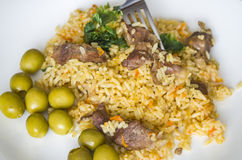 Ris mat, matställe, maträtt, kokkonst, kultur Royaltyfria Bilder