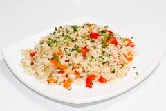 Ris med grönsaker Royaltyfria Bilder