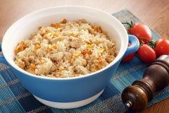 Ris med grönsaker och kryddor Arkivfoto