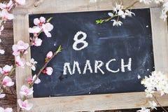 Ris med körsbärsröda blommor Royaltyfria Foton