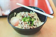Ris med mat för Teriyaki hönajapan Fotografering för Bildbyråer
