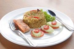 Ris och fisk Royaltyfri Bild