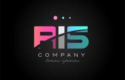 RIS r mim projeto do ícone do logotipo da letra de s três Foto de Stock Royalty Free