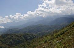 Ris terrasserar nära Sa-PA Arkivbilder