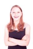 Risa adolescente de la muchacha Foto de archivo libre de regalías