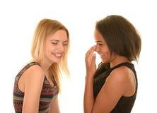 Risa adolescente de las muchachas Fotografía de archivo