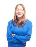 Risa adolescente feliz de la muchacha Fotos de archivo libres de regalías