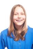 Risa adolescente feliz de la muchacha Imágenes de archivo libres de regalías