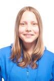Risa adolescente feliz de la muchacha Fotografía de archivo libre de regalías
