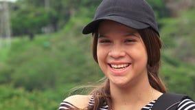 Risa adolescente o de la gente femenina feliz Imagen de archivo libre de regalías