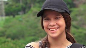 Risa adolescente o de la gente femenina feliz Fotos de archivo libres de regalías