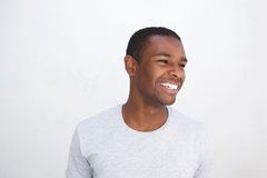 Risa afroamericana joven del individuo Fotos de archivo
