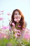 Risa asiática de la muchacha Imagenes de archivo