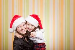 Risa de la madre y de la hija Fotografía de archivo libre de regalías