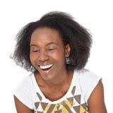 Risa de la mujer Imagenes de archivo