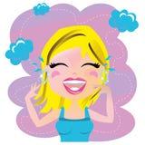 Risa de la mujer Imagen de archivo